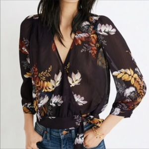 Madewell Wrap Top in Blooming Oasis Sz XS NWOT